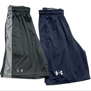 Two Pair Under Armour men's athletic gym shorts S